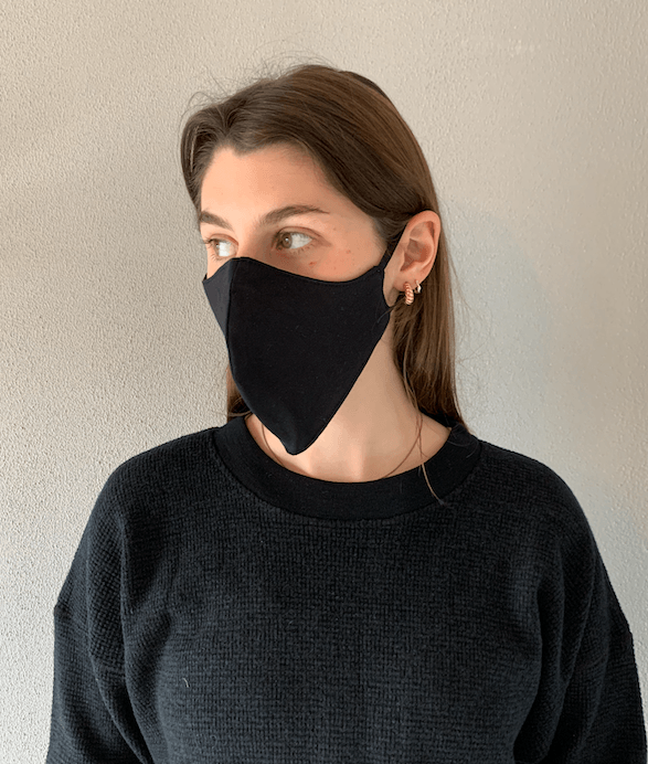 Load image into Gallery viewer, Organic Cotton Mask Black General Organic Crew