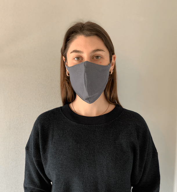 Organic Cotton Mask Slate General Organic Crew