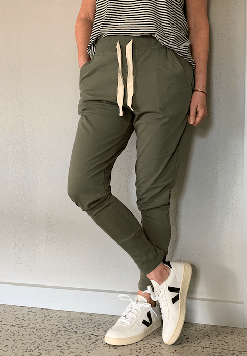 Load image into Gallery viewer, Lounge Pant Khaki pants Organic Crew