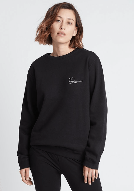 connected jogger sweater black Sweater Organic Crew
