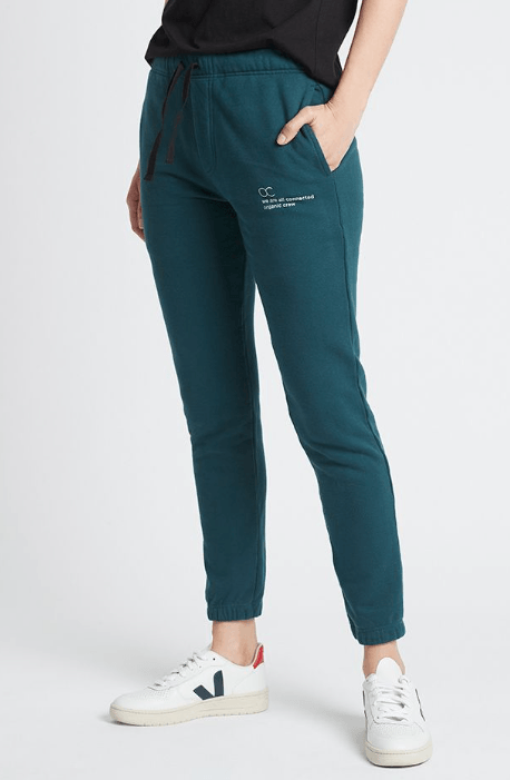 connected jogger pant teal pants Organic Crew