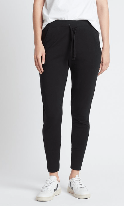 Load image into Gallery viewer, Lounge Pant Black pants Organic Crew