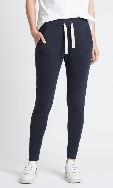 Load image into Gallery viewer, Lounge Pant Navy pants Organic Crew