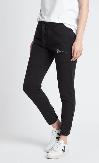 connected jogger pant black pants Organic Crew