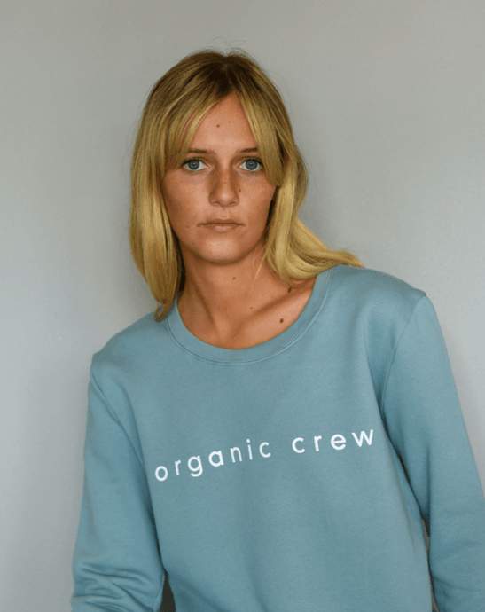 Boyfriend Sweater Steel Blue OC Sweater Organic Crew