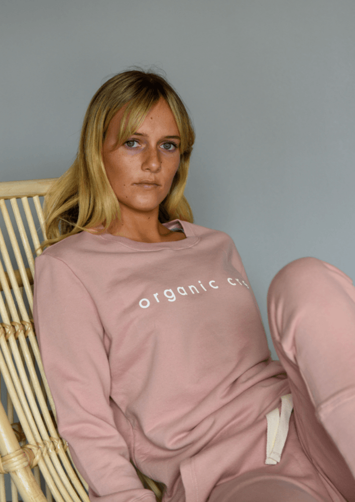 Load image into Gallery viewer, Boyfriend Sweater Dusty Pink OC Sweater Organic Crew