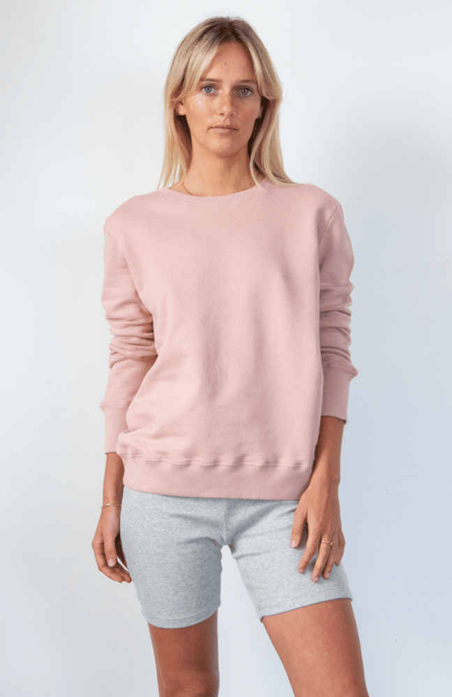 Load image into Gallery viewer, Boyfriend Sweater Dusty Pink Sweater Organic Crew