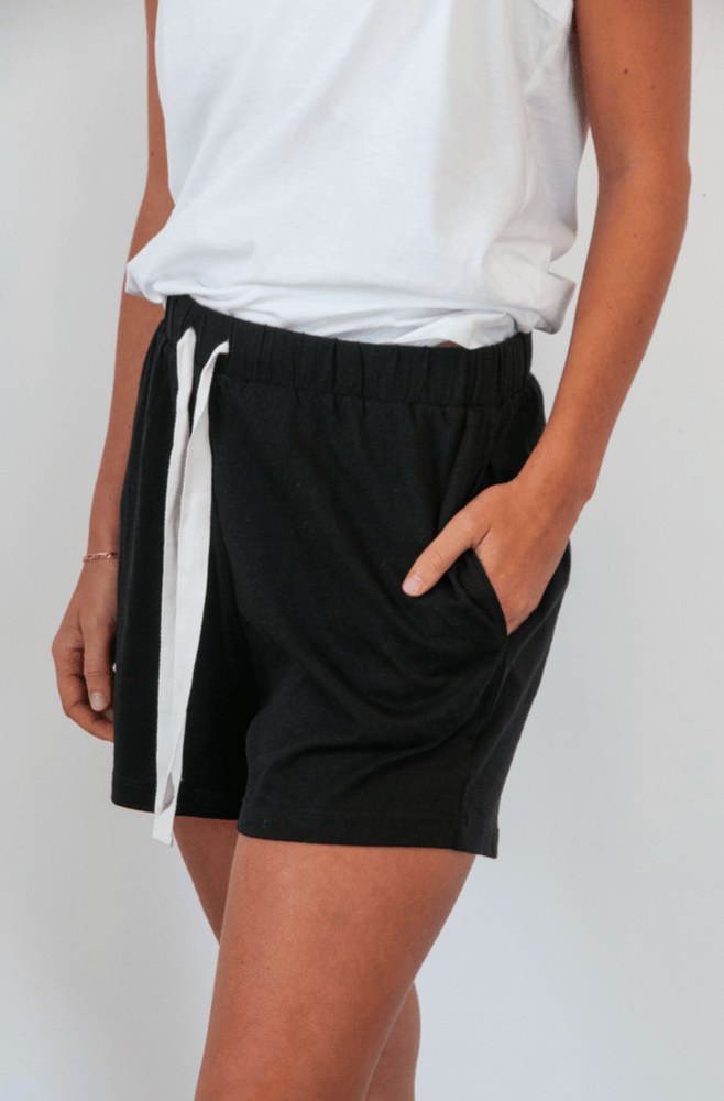 Load image into Gallery viewer, Somers Short in Black shorts Organic Crew