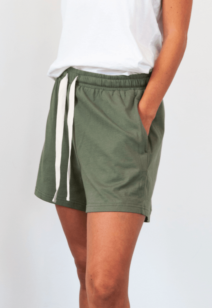 Load image into Gallery viewer, Somers Short in Khaki shorts Organic Crew