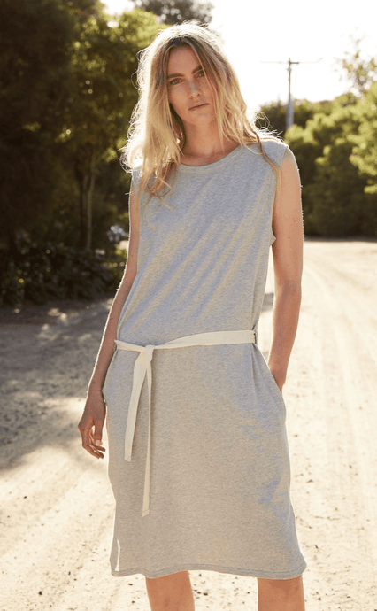 Dunes Dress in Grey dress Organic Crew