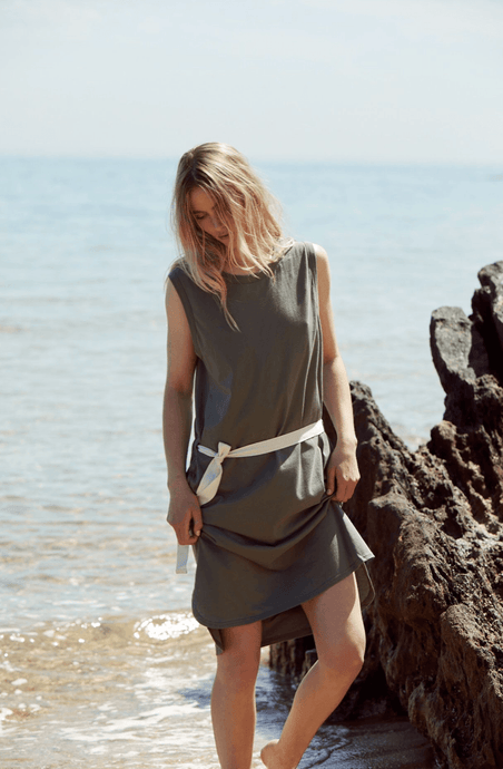 Dunes Dress in Khaki dress Organic Crew