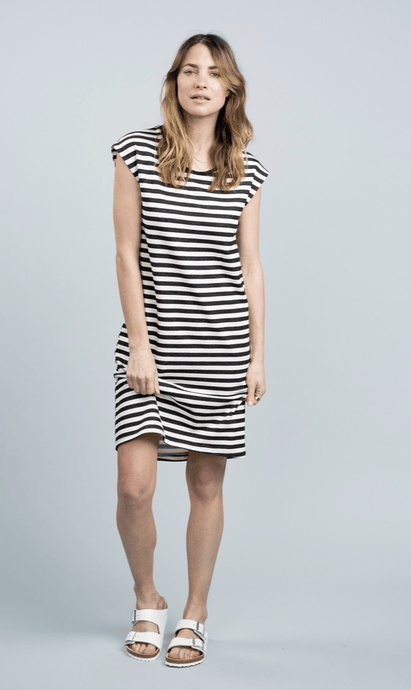 Peninsula tank dress stripe dress Organic Crew