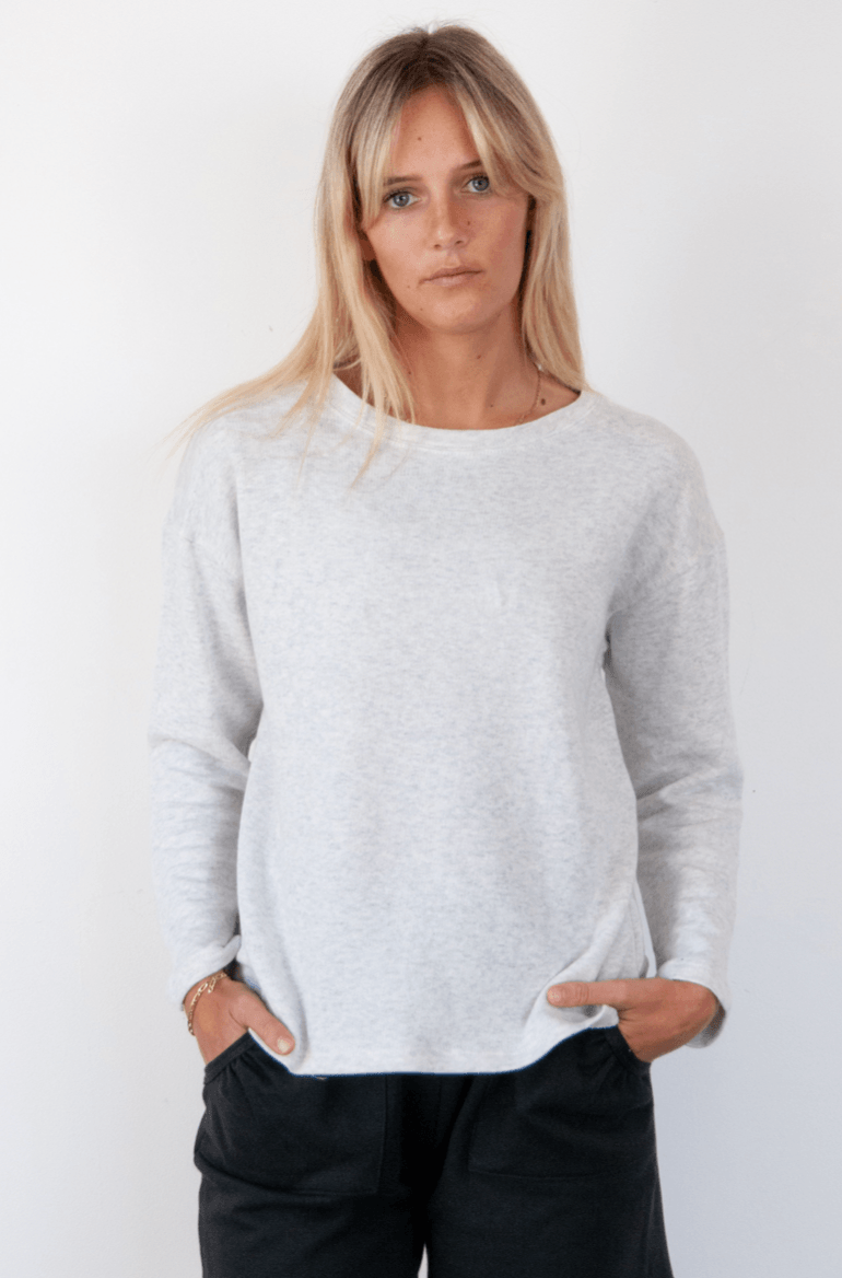 Summer Sweater Grey Marl Sweater Organic Crew