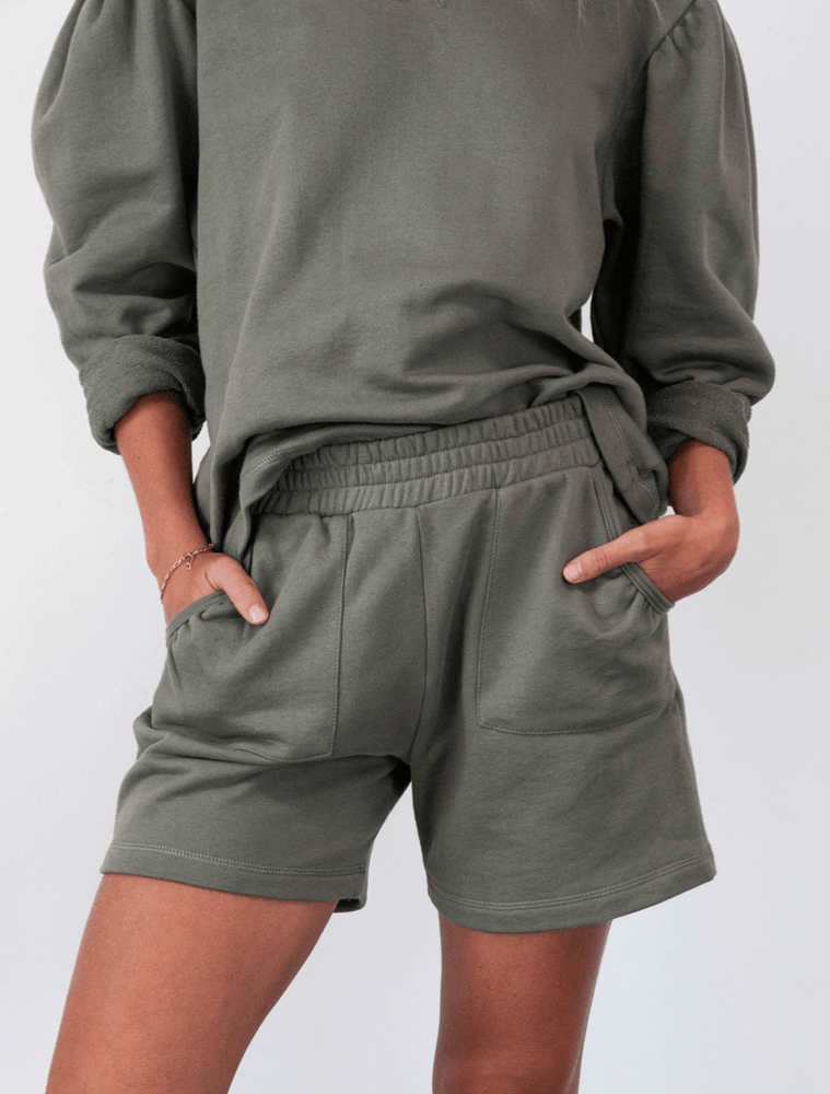 Load image into Gallery viewer, Puff Shorts khaki shorts Organic Crew