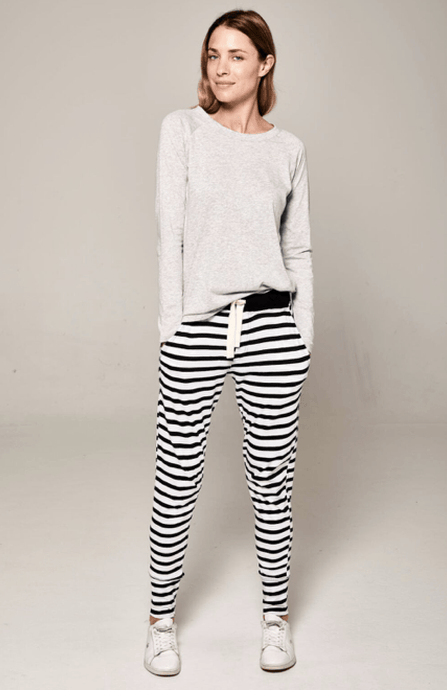 Lounge Pant Navy & White stripe pants Organic Crew