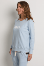 Boyfriend Sweater Pale Blue Love