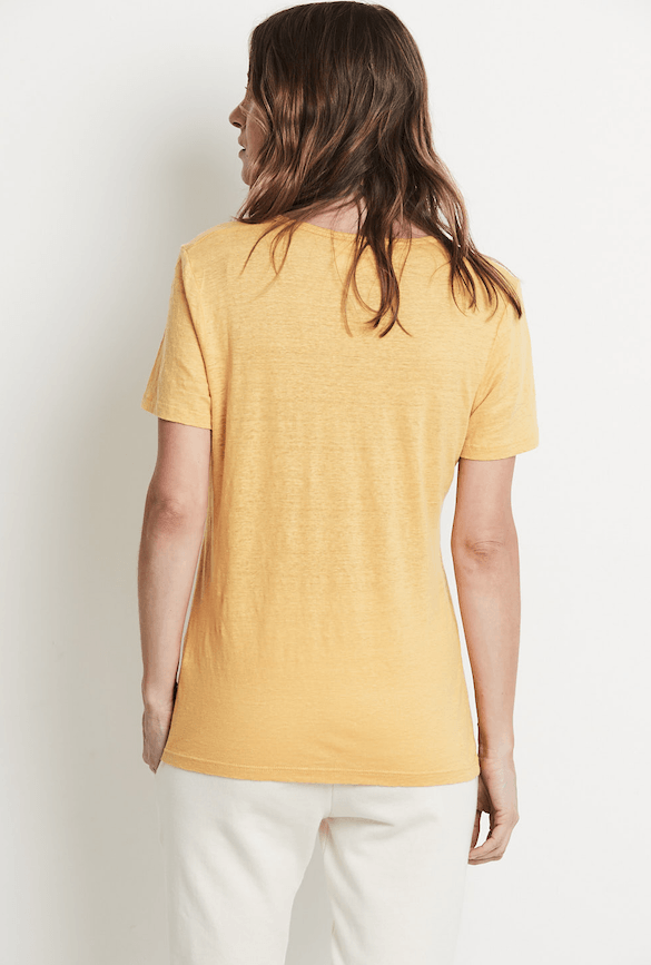 Load image into Gallery viewer, South Beach Linen T-shirt Saffron
