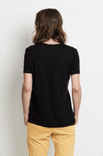 South Beach Linen T-Shirt in black