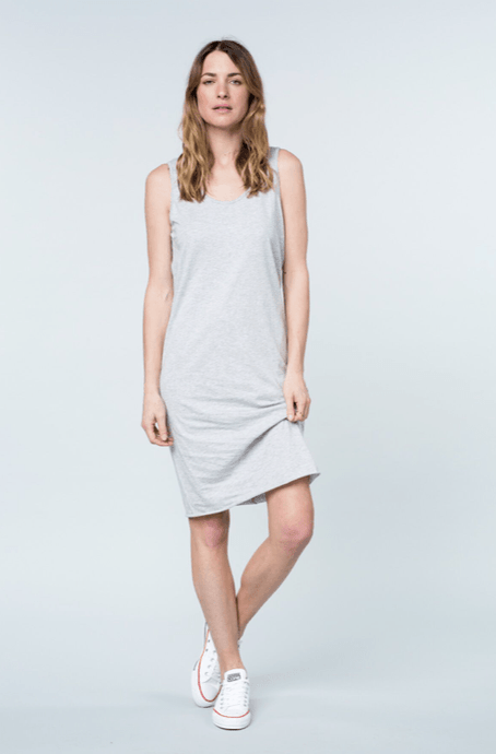 cali tank dress grey