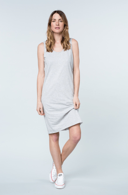 cali tank dress grey dress Organic Crew