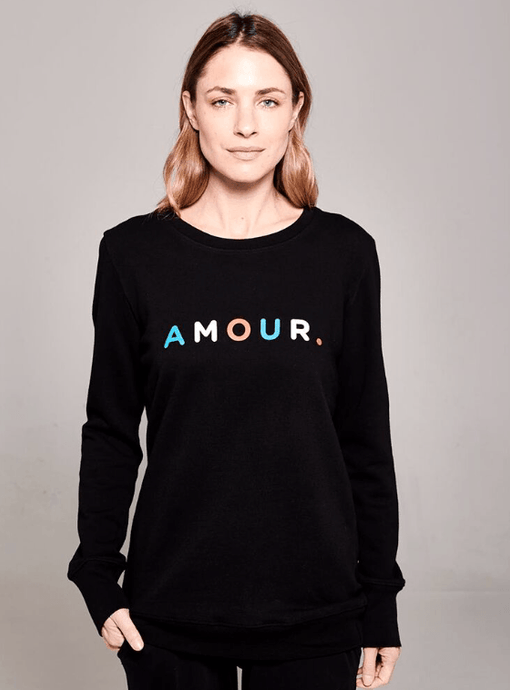 Boyfriend Sweater Black Amour
