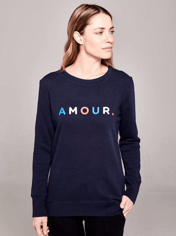 Boyfriend Sweater Navy Amour Sweater Organic Crew