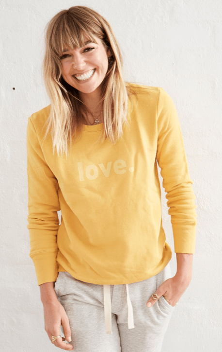 Boyfriend Sweater Saffron Love Sweater Organic Crew