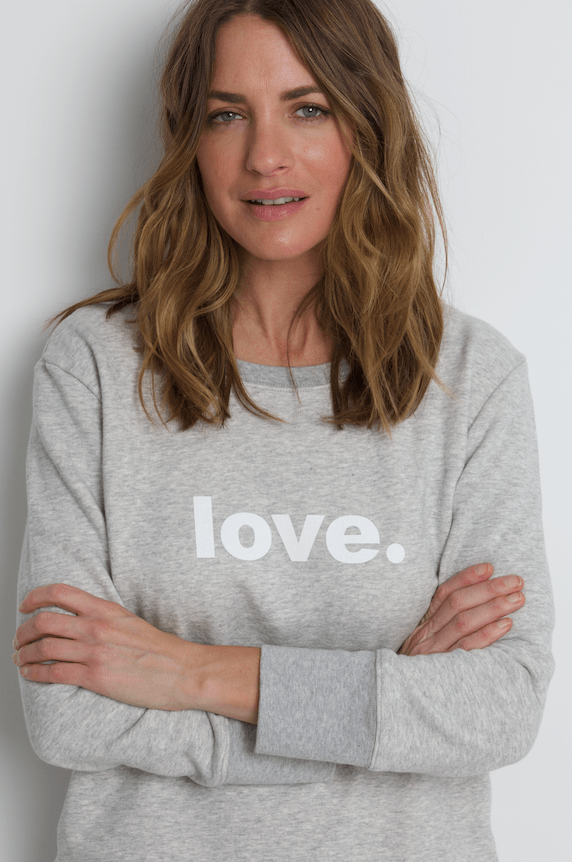 Boyfriend Sweater Grey Love Sweater Organic Crew