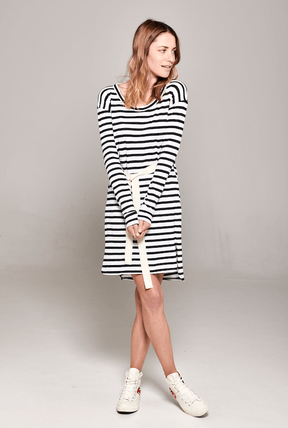 Venice Dress Stripe dress Organic Crew
