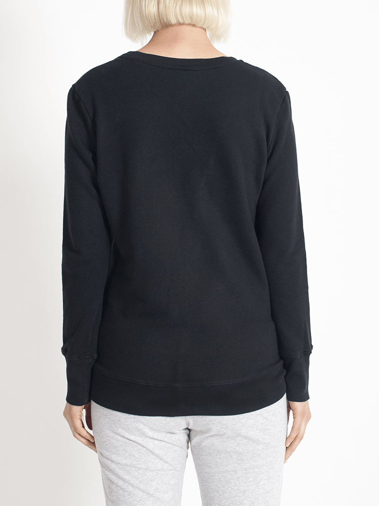Load image into Gallery viewer, Boyfriend Sweater Black OC Sweater Organic Crew