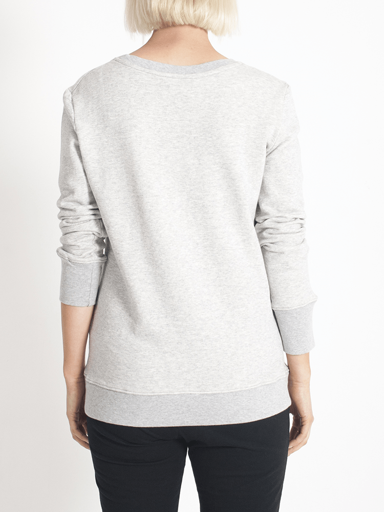 Load image into Gallery viewer, Boyfriend Sweater Grey Plain