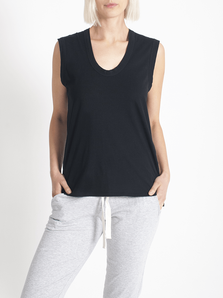 Load image into Gallery viewer, Perfecto Tank Black Tank Organic Crew