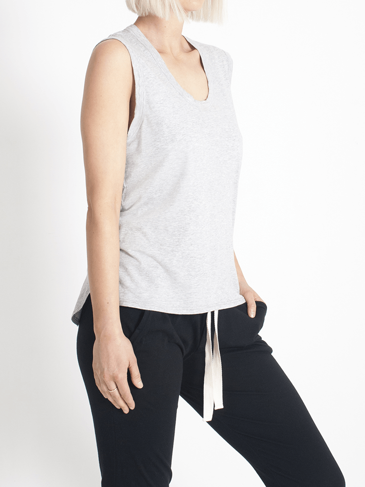 Load image into Gallery viewer, perfecto tank grey Tank Organic Crew