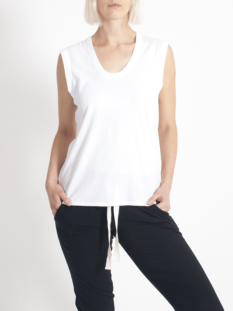 Load image into Gallery viewer, Perfecto Tank White Tank Organic Crew