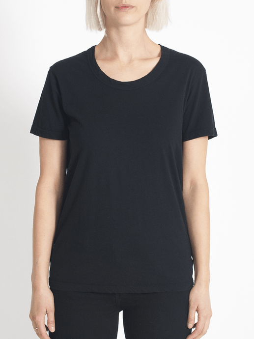 super relaxed tee black Tee Shirt Organic Crew