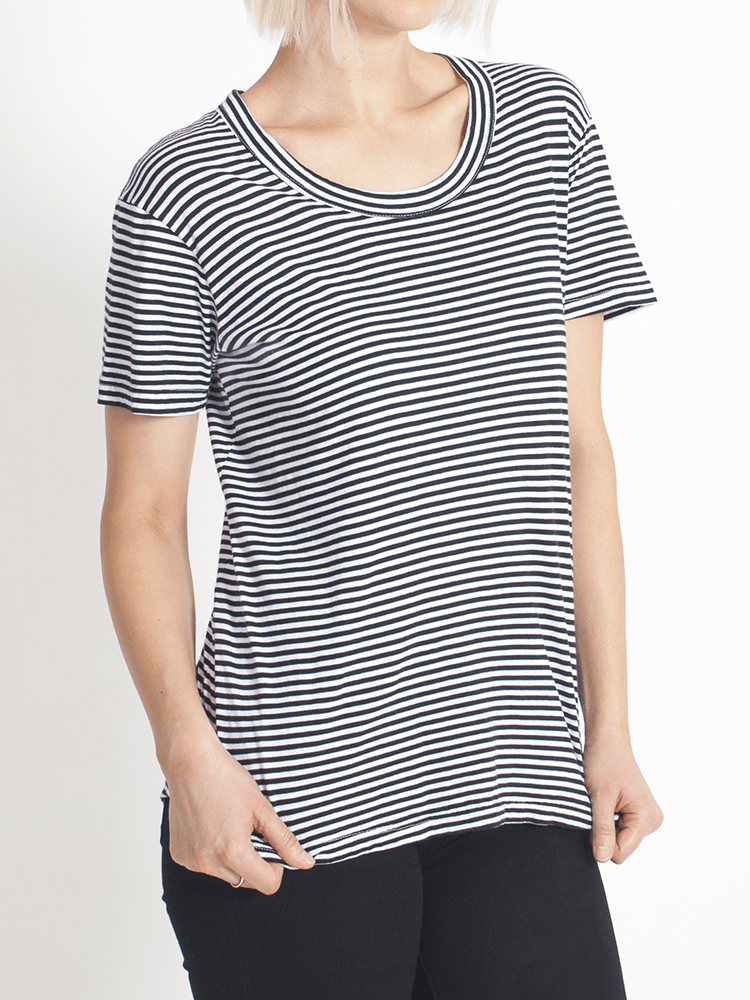 super relaxed tee fine stripe