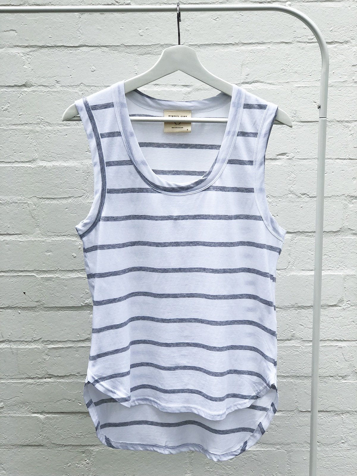 Perfecto Tank Grey / White Stripe