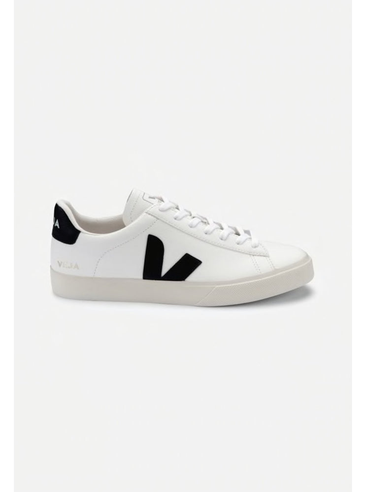 Load image into Gallery viewer, Veja Campo Chrome free extra white - black Organic Crew