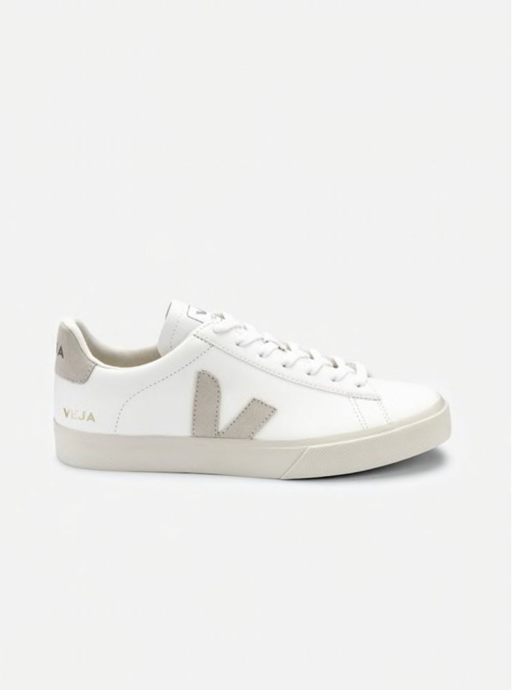 Load image into Gallery viewer, VEJA CAMPO CHROME FREE SUEDE WHITE Organic Crew
