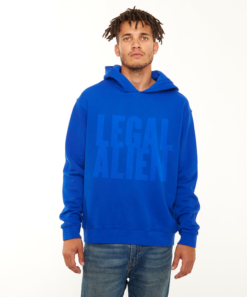 REPEL Clothing - Wear Your Voice!:Legal Alien Men's Hoodie - REPEL Clothing, S / Blue