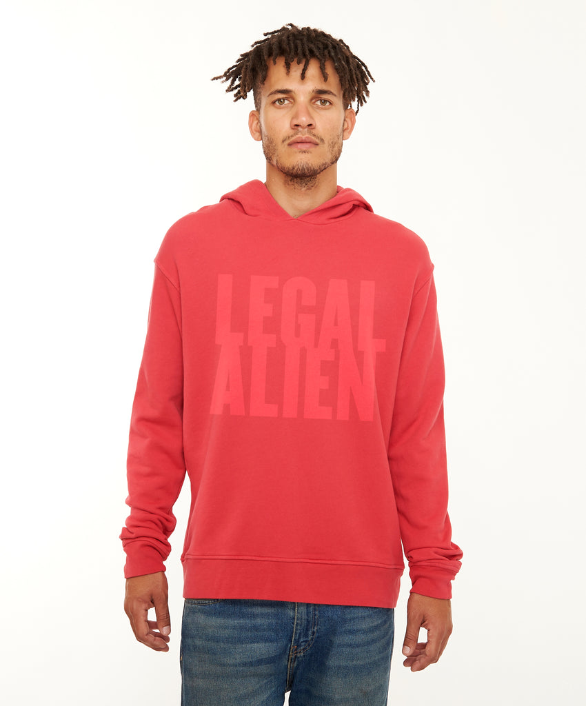 REPEL Clothing - Wear Your Voice!:Legal Alien Men's Hoodie - REPEL Clothing, S / Red