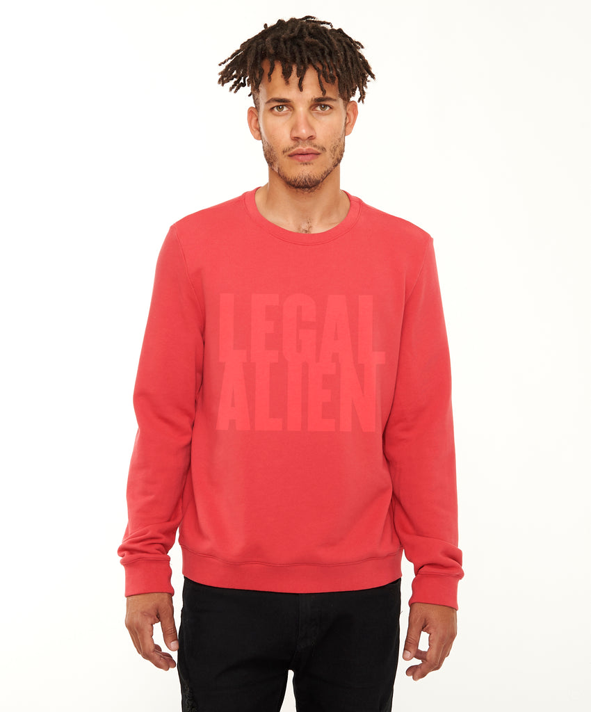 REPEL Clothing - Wear Your Voice!:Legal Alien Men's Sweatshirt - REPEL Clothing, S / Red