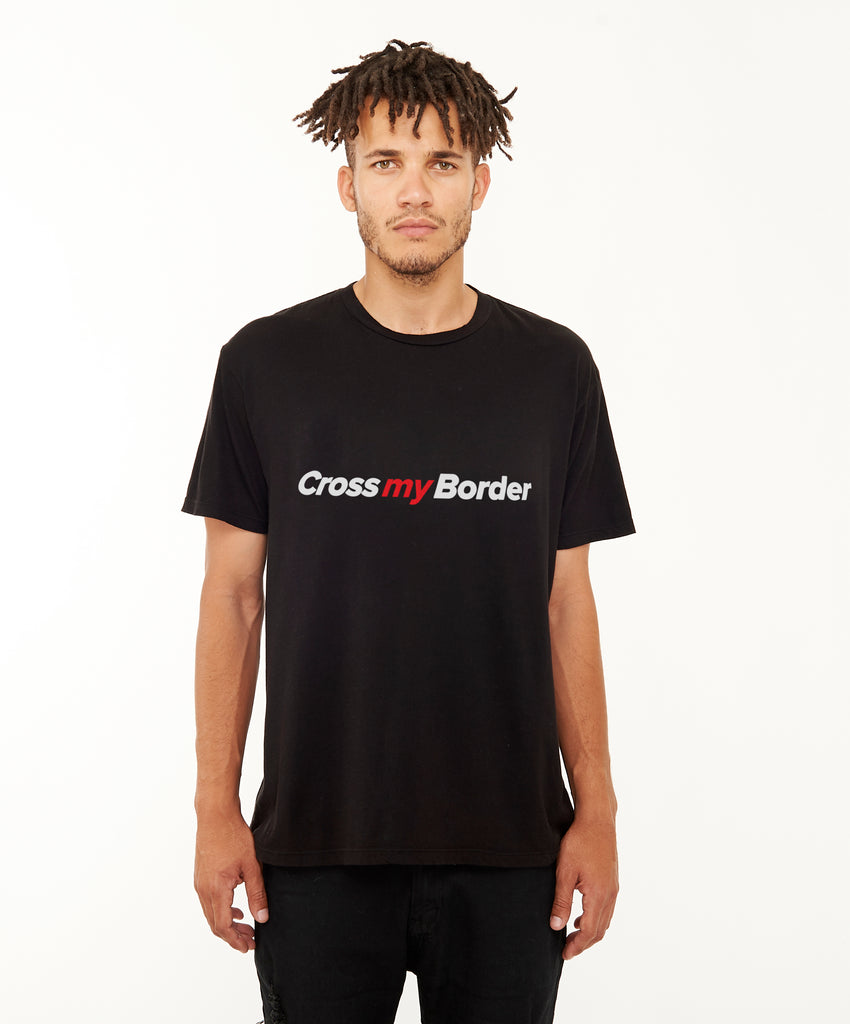 REPEL Clothing - Wear Your Voice!:Cross My Border Men's Tee - REPEL Clothing, s / black