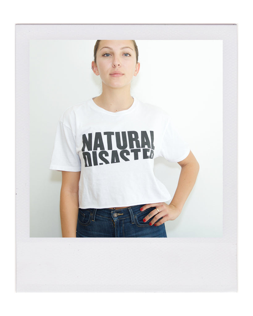 REPEL Clothing - Wear Your Voice!:Women's - Natural Disaster Boyfriend Tee, One Size / White
