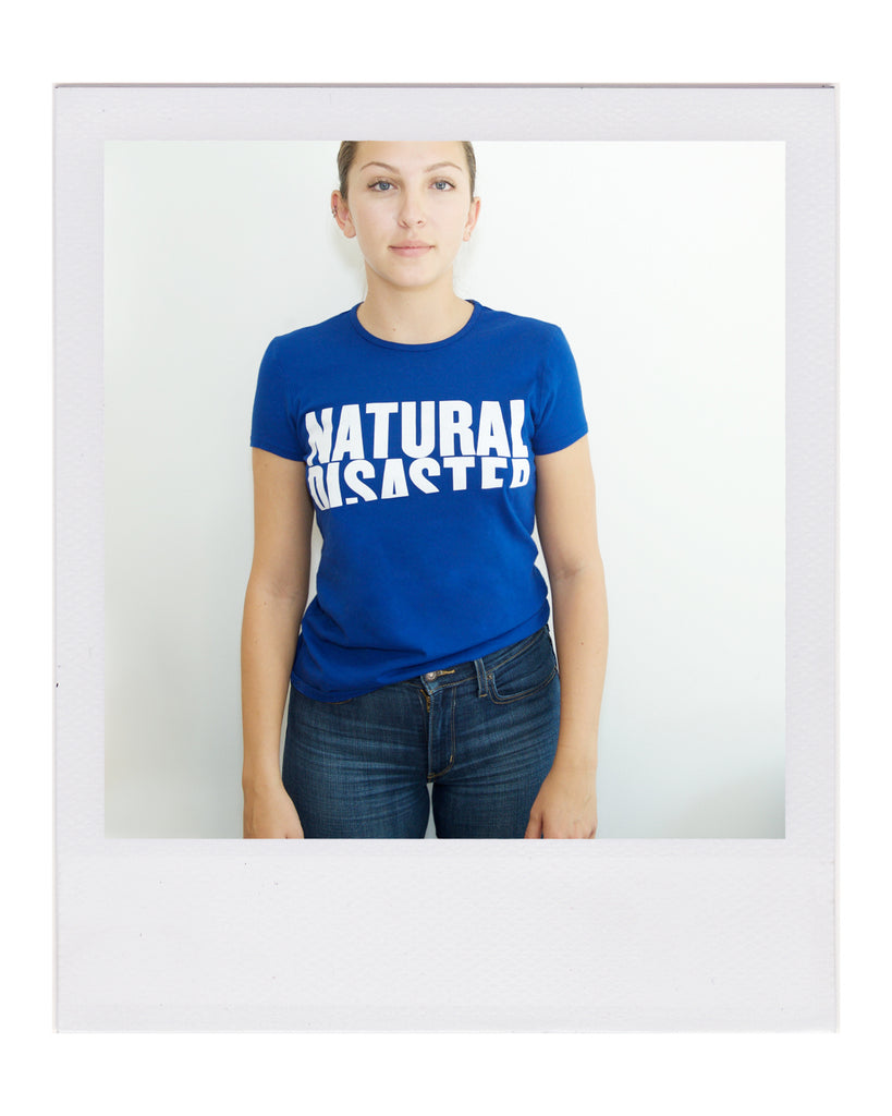 REPEL Clothing - Wear Your Voice!:Women's - Natural Disaster Fitted Tee, XS / Blue