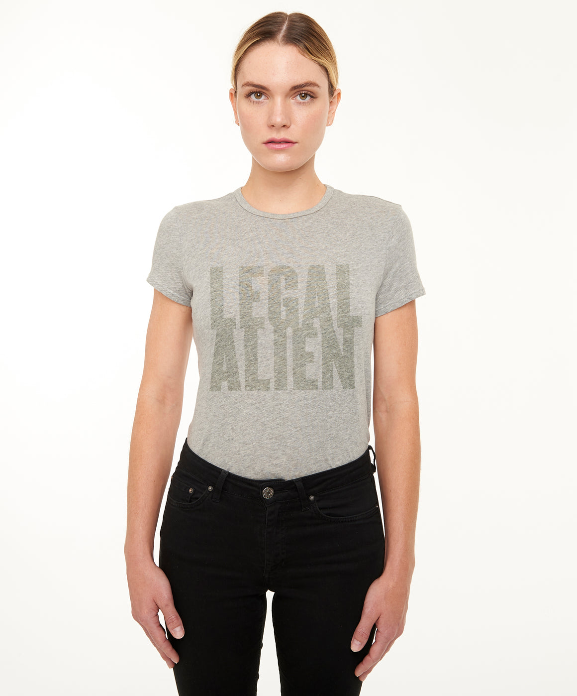 REPEL Clothing - Wear Your Voice!:Legal Alien Women's Fitted Tee - REPEL Clothing, XS / Yellow