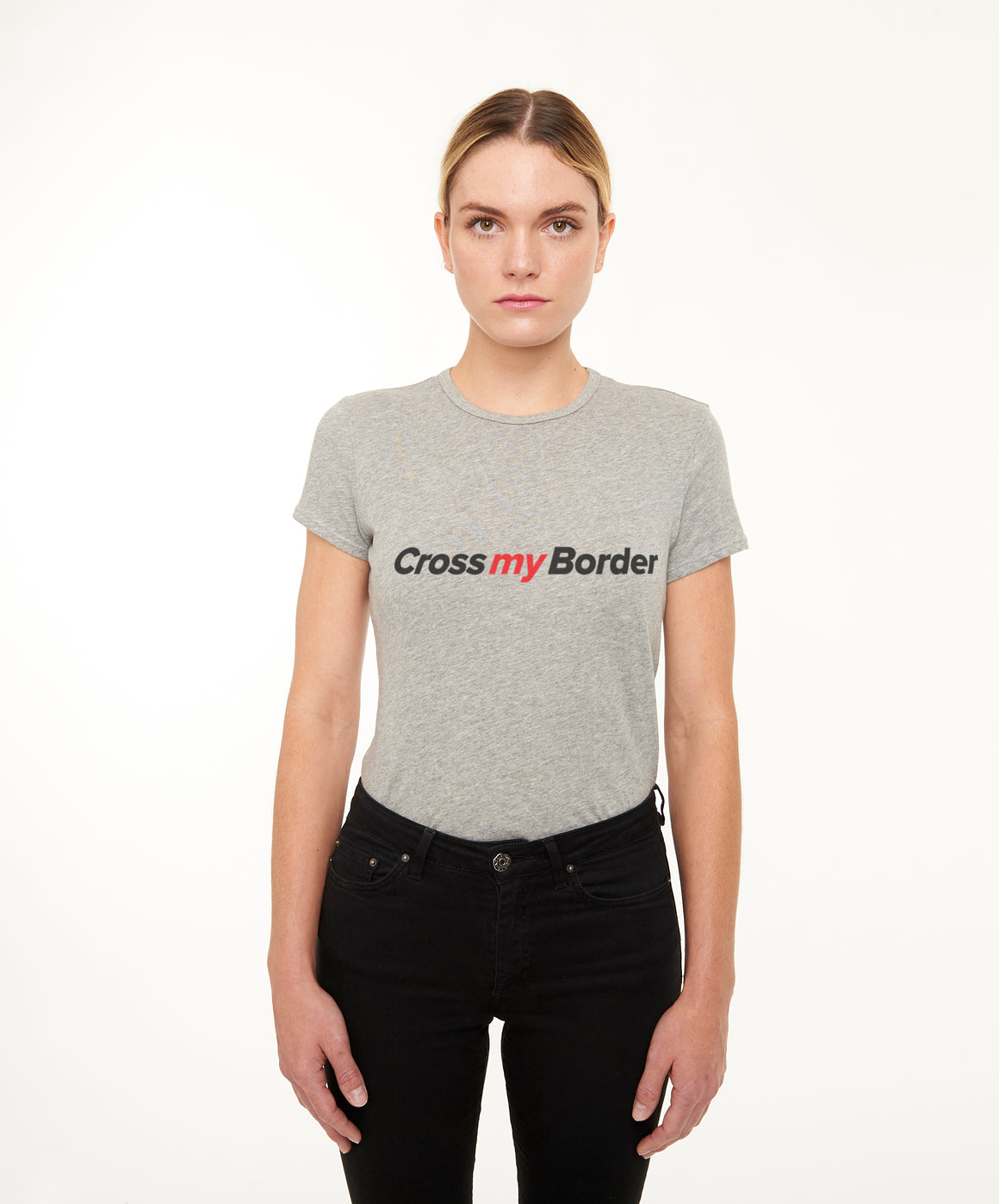 REPEL Clothing - Wear Your Voice!:Cross My Border Women's Fitted Tee - REPEL Clothing, xs / black