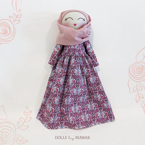 06 Pre-Order | Sofia Hijab Doll ~ Fully Removable Dress Liberty Edition - DollsByMawar