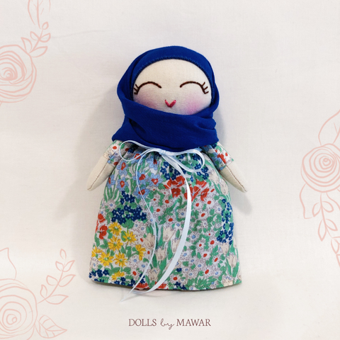 Aminah Hijab Doll ~ Dollhouse Doll #003