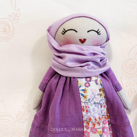Petite Zahara Hijab Doll ~ Irish Linen Edition with Liberty